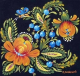 Olga Zakharova Art - Folk Art - Blueberries