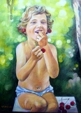Olga Zakharova Art - Portrait - Cherries