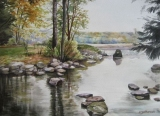 Olga Zakharova Art - Landscape - Deer Lake 1