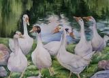 Olga Zakharova Art - Animals - Geese