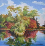 Olga Zakharova Art - Landscape - The Lake