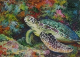 Olga Zakharova Art - Miniature - Emerald Turtle