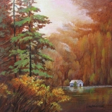 Olga Zakharova Art - Landscape - Floating Lake