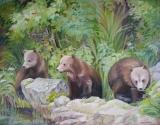 Olga Zakharova Art - Animals - Bears in Alaska 2
