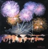 Olga Zakharova Art - Cityscape - Firework