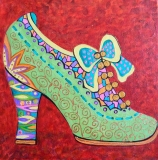 Olga Zakharova Art - Decorative Art  - Green Shoe