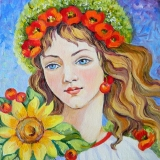 Olga Zakharova Art - Portrait - Ukrainian Girl