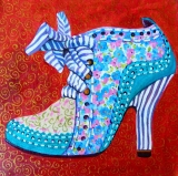 Olga Zakharova Art - Decorative Art  - Blue Shoe