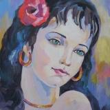 Olga Zakharova Art - Portrait - Karmen