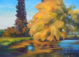 Olga Zakharova Art - Landscape - Orange Lake