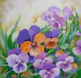 Olga Zakharova Art - Floral - Pansies