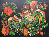 Olga Zakharova Art - Folk Art - Cock and Han