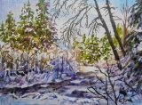 Olga Zakharova Art - Miniature - Winter Scene1