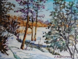 Olga Zakharova Art - Miniature - Winter Scene 2