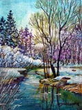 Olga Zakharova Art - Miniature - Winter Scene 3