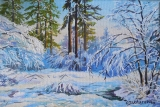 Olga Zakharova Art - Landscape - Winter Time 5