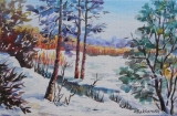 Olga Zakharova Art - Landscape - Winter Time 2