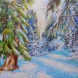 Olga Zakharova Art - Landscape - Sunny Day in the Snowy Park
