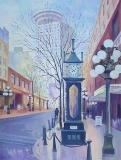 Olga Zakharova Art - Cityscape - Morning in Vancouver
