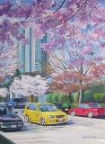 Olga Zakharova Art - Cityscape - Yellow Car