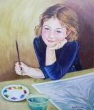Olga Zakharova Art - Portrait - Enjoying Art