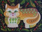 Olga Zakharova Art - Folk Art - Happy Cat