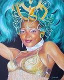 Olga Zakharova Art - Portrait - Caribbean Dancer